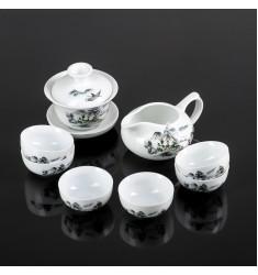 """Набор чайный """"Пейзаж"""", 8 предметов"""